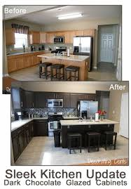 is refinishing kitchen cabinets worth it great sleek chocolate kitchen painted cabinets