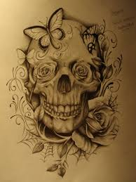 best home decorating ideas skull and roses tattoo