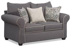 bassett chesterfield sofa charming carla memory foam sleeper sofa and loveseat set gray