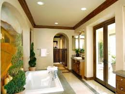 Mediterranean Bathroom Awesome Mediterranean Bathroom With Wooden Vanity Cabinets And