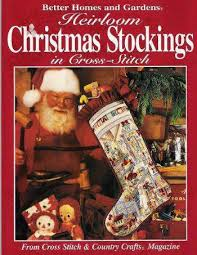 Better Homes And Gardens Christmas Crafts - 9 heirloom christmas stockings bh u0026g cross stitch country crafts 64