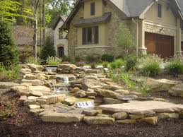trendy water feature diven from garden landscaping ideas on with
