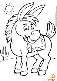 donkey coloring page getcoloringpages com