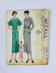 dress pattern brands mccall 7234 1933 ladies misses dress historical patterns for