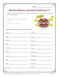 spelling patterns worksheet nouns and verbs ending in y