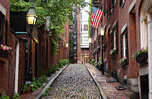 acorn street l globe beacon hill boston wikipedia