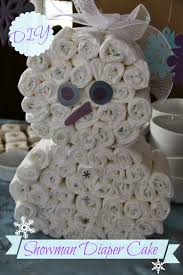 diy snowman diaper cake suburban wife city life