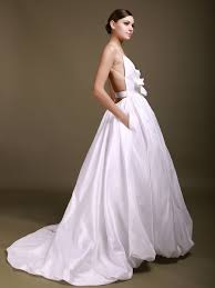 backless wedding dresses gown v neck spaghetti straps backless taffeta wedding dresses