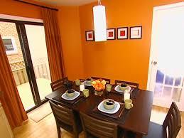 orange dining room orange hgtv