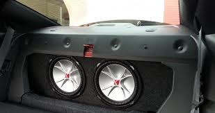 camaro speaker box 5 camaro 2010 2015 front firing dual subwoofer box modern