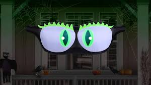 airflowz halloween projection inflatable moving monster eyes youtube
