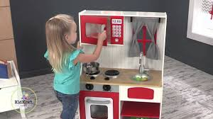 kidkraft red country play kitchen youtube