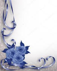 wedding invitation background blue roses u2014 stock photo irisangel
