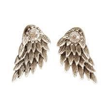 cool stud earrings angel wings rhinestone stud earrings pluto99