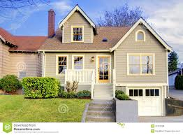 cute small craftsman style home royalty free stock photos image