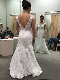 trumpet wedding dresses new ivory all beaded lace trumpet wedding dress size 4 ebay