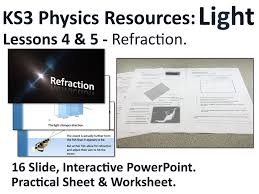 ks3 physics lesson resources light refraction lessons 4 u00265 by