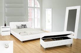 Bed Frame Set Best Master 6016 Kaitlyn White Or Black Bycast Leather Tufted