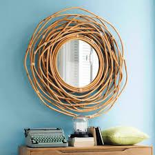 miroir jardin d ulysse miroir rond en bambou d 90 cm sumba maisons du monde star