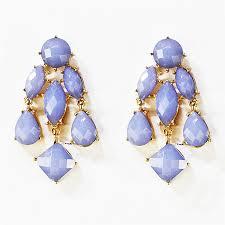Big Chandelier Earrings Chandelier Earrings Lavender Earrings With Dangle Stone Droplets