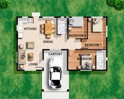 3 bedroom bungalow floor plans amazing modern plan 3d small house