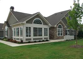 Shed Style Home Design Brick Craftsman Style Ranch Homes Sloped Ceiling