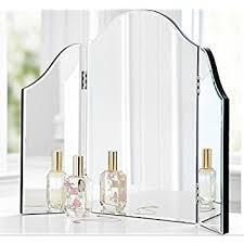 Glass Vanity Table With Mirror Amazon Com Howard Elliott 99003 Tripoli Trifold Vanity Mirror
