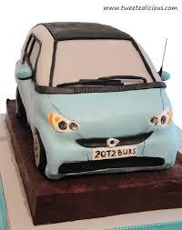 3d smart car cake for a baby shower u2013 twee tea licious