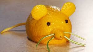 simple fruit carving fruit carving for kids a lemon mouse youtube