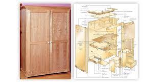Armoire Furniture Plans Computer Armoire Plans U2022 Woodarchivist