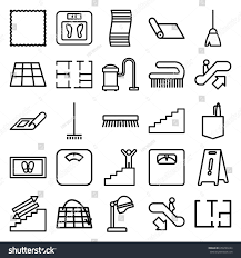 floor icons set set 25 floor stock vector 658299244 shutterstock