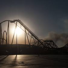 Six Flags Magic Mountain Directions Rye Fire Near Santa Clarita Has Burned At Least 7 000 Acres Is 5