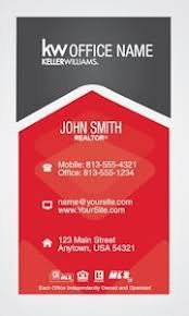 classic keller williams realty business card template design
