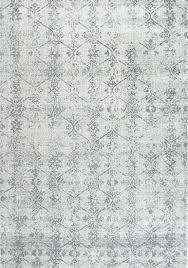 nuloom machine made rhomb lattice floral vintage rug