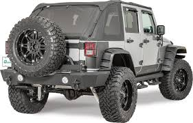 jeep bumper rampage products rear recovery bumper with tire carrier for 07 17