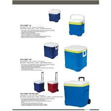 igloo 60 quart ice cube roller cooler walmart com
