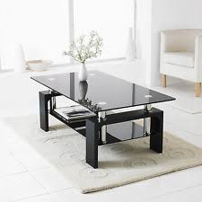 Black Glass Coffee Table Glass Coffee Table Ebay