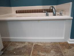 raising them up right standard tub into a build in tub faux
