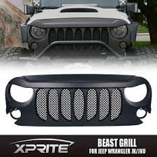 jeep wrangler front grill upgrade beast grille front grill grille with mesh for jeep