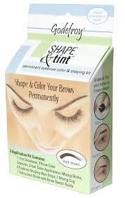 Shaping Eyebrows At Home Godefroy Shape U0026 Tint Permanent Eye Brow Color U0026 Shaping Kit Dark
