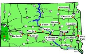 south dakota map with cities south dakota fishing directory and guide
