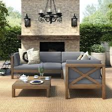 winnfield 5 piece patio conversation set with fire pit seats 4