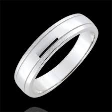alliance or blanc homme alliance homme horizon or blanc 9 carats brossé bijoux edenly