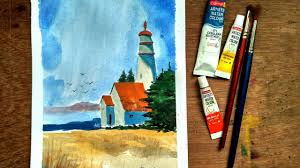 Painting House by Beginners Watercolor How To Paint House Landscape Paint With