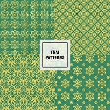 thai design abstract thai patterns design vector free download