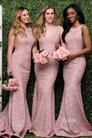 fitted bridesmaid dresses blush high neck fitted open back jersey bridesmaid dress