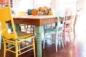 colorful dining table different color dining room chairs trend colorful dining room chairs