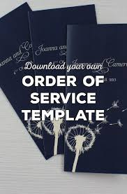 Order Wedding Programs Wedding Order Of Service Wording Template What To Include
