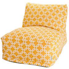 amazon com majestic home goods yellow links bean bag chair
