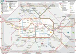 Madrid Subway Map Map Of Berlin Commuter Rail S Bahn Stations Lines Urbanrailnet